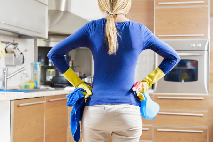 Retirar residuos de grasa en hogares